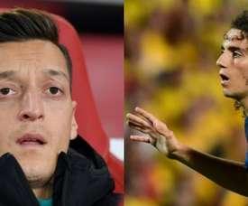 Arteta não conta mais com os dois jogadores. AFP