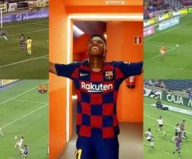 Os cinco talentos culés destronados por Ansu Fati. Montaje/Barcelona