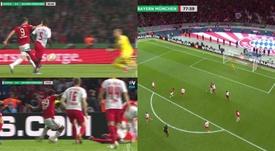 Coman y Lewandowski cerraron la goleada del Bayern. Captura/Vamos