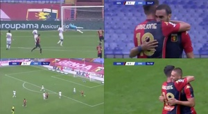 Zappacosta and Pjaca scored for Genoa. Screenshots/NovaSports