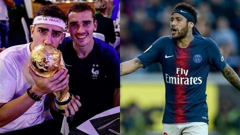 ¿Y si no es el Barça? Al hermano de Griezmann se le escapó un guiño al PSG. Montaje/ThGriezmann/AFP