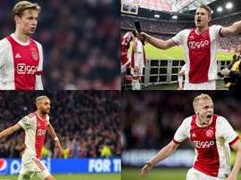 L'Ajax se décompose. Montage/EFE/AFP