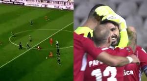 Jordi Gómez scored a stunning goal. Screenshot/MovistarLigadeCampeones