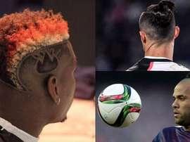 Os cortes de cabelo mais estranhos do mundo do futebol. Montaje AFP