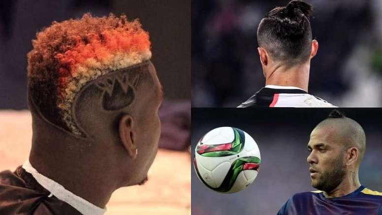 Les coiffures les plus étranges des footballeurs.  Montage AFP