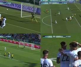 L'équipe d'Argentine a marqué trois buts en moins de 15 minutes. Captures/DAZN