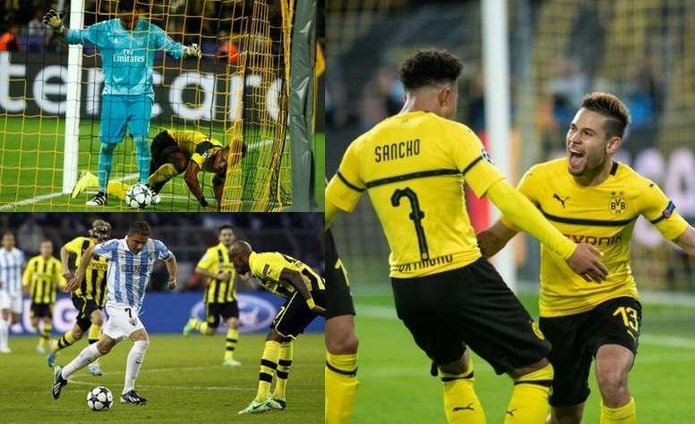 Les cinq dernières visites de clubs espagnols dans l'enfer de Dortmund. EFE/AFP