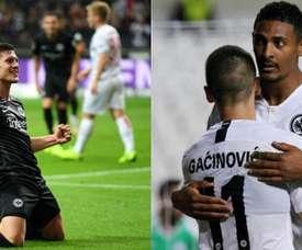 Todos hablan de Jovic, pero su compañero lleva sólo tres goles menos. BeSoccer/AFP