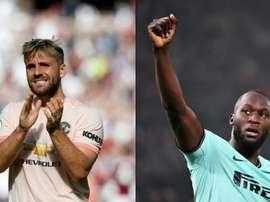 El 'palo' de Shaw a Lukaku tras la eliminación del Inter. Montaje/AFP