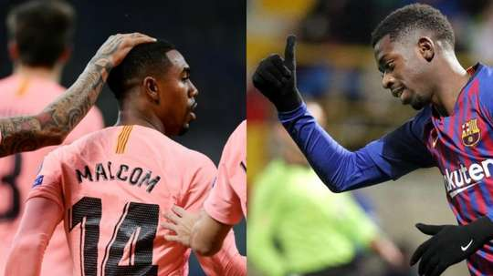 Malcom et Dembélé se sont illustrés. AFP/EFE