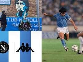 La maglia del Napoli per ricordare Maradona. AFP/SSCNapoli