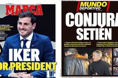 Les Unes des journaux sportifs en Espagne du 17/01/2020. Montage/Marca/MundoDeportivo