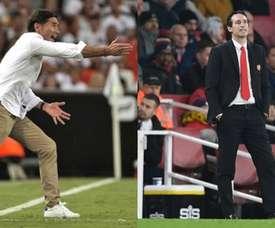 Marcelino et Emery, autres alternatives pour l'AC Milan. EFE/AFP