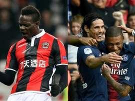 Mbappé podría volver a la delantera titular del PSG ante el Niza. Montaje/BeSoccer