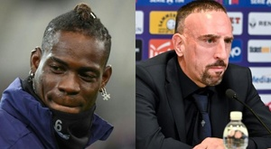 Comment faire de sa différence une force, par Ribéry et Balotelli. Montaje/AFP