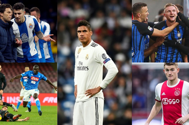 Varane and his possible replacements. EFE/AFP