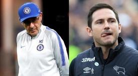 Si complica l'effetto domino Sarri-Lampard. Montaje/AFP