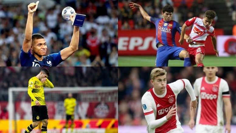 Mbappé es el favorito al Golden Boy en una lista con Pulisic, De Ligt y Aleñá, entre otros. EFE/AFP