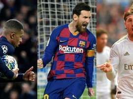 Mbappe, Messi and Ramos have yet to have their contracts renewed. AFP