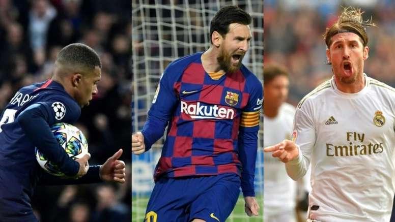 Mbappé, Messi e Ramos, com um futuro incerto. AFP
