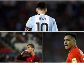 Messi, Ronaldo and Sanchez could still miss out on the World Cup this summer. BeSoccer