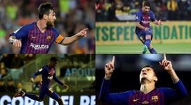 Messi, Coutinho, Dembélé e Suárez poderiam ser titulares. AFP/EFE