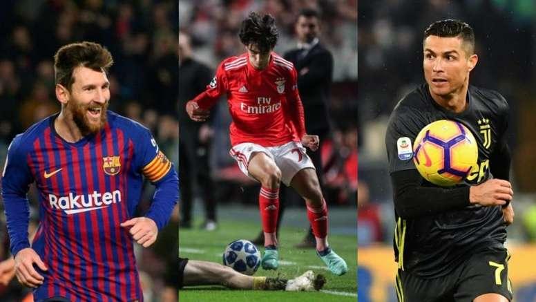Los números de Joao Félix le equiparan a Messi y Cristiano. AFP/EFE