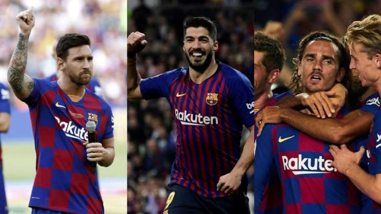 Expectations to see Barça's deadly trio are growing. EFE/AFP