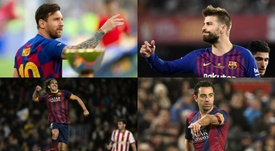 Estos son solo algunos de los talentos que salieron de La Masia. EFE/AFP
