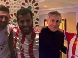 Sheik de Almeria aconselha Barça a contratar...Quique Setién! Twitter/Turki_alalshik