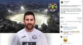 El Petrocub Hancesti de Moldavia quiere fichar... ¡a Leo Messi! Facebook/FCPetrocub
