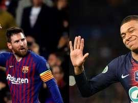 Mbappé évoque la saison de Messi. AFP/EFE