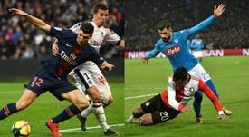Meunier e Hysaj, las alternativas a Semedo para el puesto de lateral diestro en el Atlético. AFP