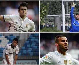 Morata, Casado, Jesé y Pacheco, vistiendo la camiseta blanca. BeSoccer