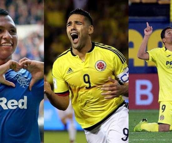 Falcao et les 5 autres colombiens qui ont marqué 100 buts en Europe. Montaje/EFE/AFP