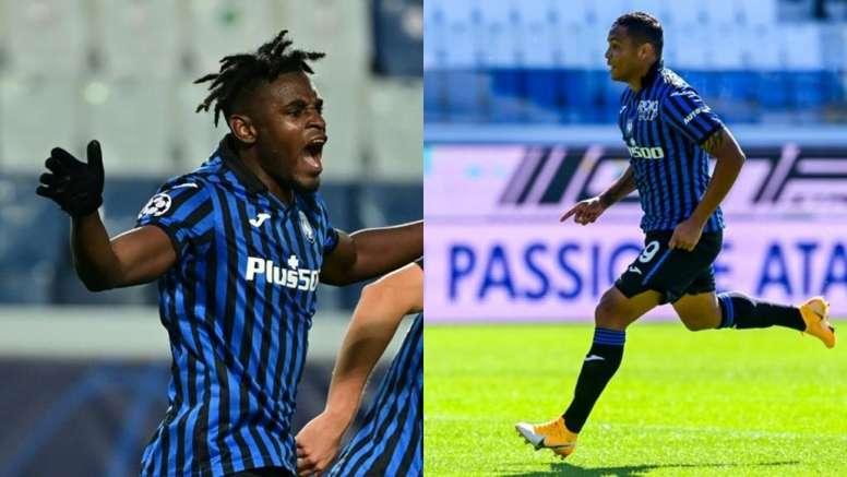 Zapata y Muriel suman 30 goles entre los dos. AFP
