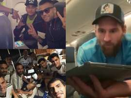O jogo do momento entre os jogadores. Instagram @Danialves/Ghiguain20_90/Messi.com