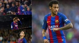 Neymar supera números do trio Dembélé, Griezmann e Coutinho. EFE/AFP