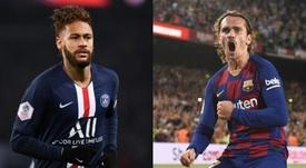 Neymar and Griezmann could swap teams. AFP