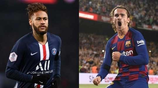 L'échange Neymar-Griezmann se précise plus que jamais. AFP