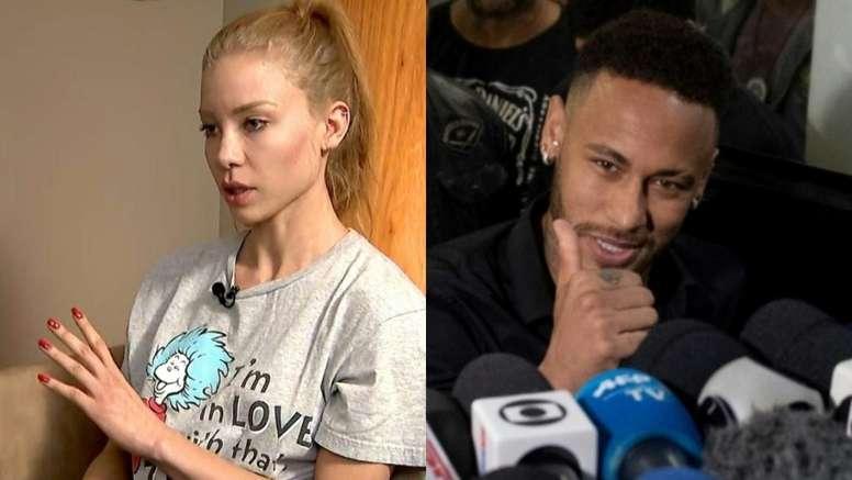 Najila habló sobre la causa contra Neymar. Montaje/Captura/AFP