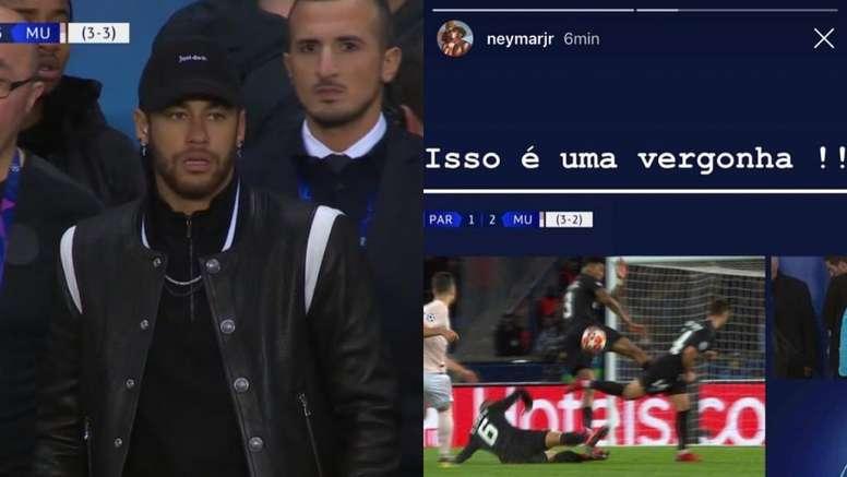 Neymar espera otro revés este martes en Nyon. Collage/Movistar/NeymarJR