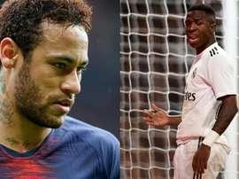 No Real Madrid não vêm com bons olhos a chegada de Neymar. Montaje/AFP