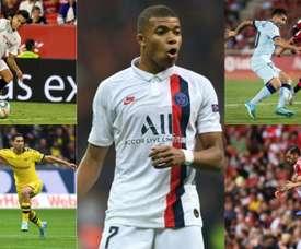 Cinco emprestados mais Mbappé estariam nos planos do Real Madrid. EFE-AFP