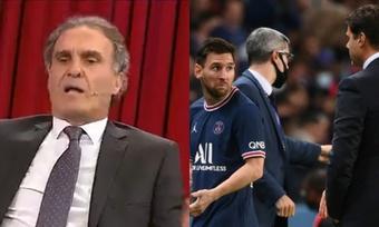 Ruggeri, crítico con el cambio de Messi. ESPN/AFP