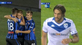 El Atalanta recibió al Brescia. Capturas/ESPN