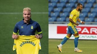 Peñaranda y Jesé anotaron dos de los tres tantos de Las Palmas. EFE/LaLiga