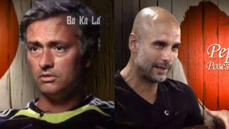 Mourinho y Guardiola, una bonita relación. Captura/MovistarFutbol