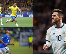 Os 10 futebolistas da Copa América com maior valor de mercado. Montaje/AFP