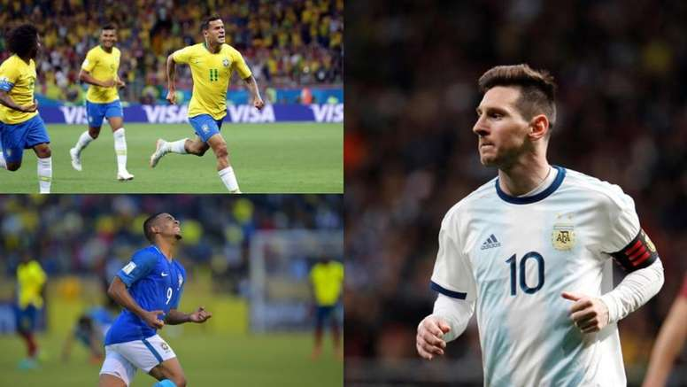 Les 10 joueurs de Copa América à la plus grande valeur marchande. Montage/AFP